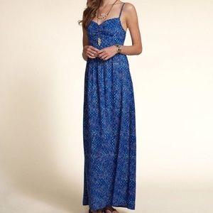 HOLLISTER Tie Back Maxi Dress